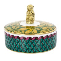 Richard Ginori 1735 Totem Trinket Box With Monkey Lid