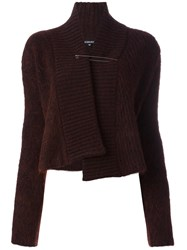 Ann Demeulemeester Knitted Shawl Wrap Cardigan Pink And Purple