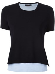 Alice Olivia Knitted T Shirt Blue