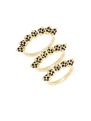 Eddie Borgo Pave Cone Band Stackable Ring Set Yellow Gold