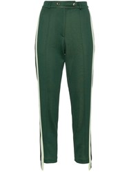 Golden Goose Deluxe Brand Side Stripe Cotton Blend Track Pants Green