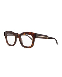 Stella Mccartney Thick Square Acetate Fashion Glasses Dark Tortoise