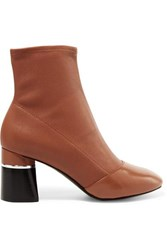 3.1 Phillip Lim Drum Leather Ankle Boots Tan