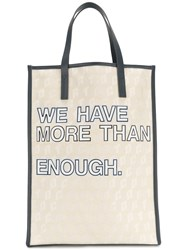 Corto Moltedo We Have More Than Enough Shopper Blue
