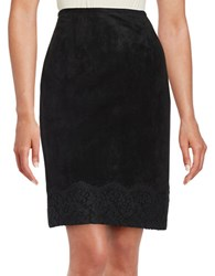 Calvin Klein Sueded Pencil Skirt Black