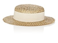 Eugenia Kim Brigitte Straw Boater Hat Gold