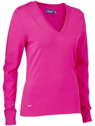 Daily Sports Zoie V Neck Jumper Pink