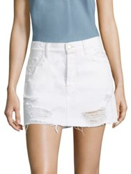 J Brand Bonny Distressed Denim Mini Skirt Distract