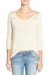 Junior Women's Rip Curl 'Carefree' Open Knit Pullover