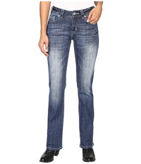 Rock And Roll Cowgirl Mid Rise Bootcut In Medium Wash W1 8475 Medium Wash Women's Jeans Navy