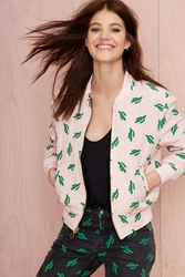 Nasty Gal American Retro Oscar Quilted Bomber Jacket