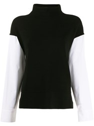 Piazza Sempione Contrast Knit Jumper Black