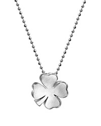 Alex Woo Sterling Silver Luck Clover Bloom Necklace 16