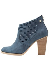 Xti Ankle Boots Jeans Dark Blue