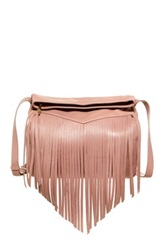 Christopher Kon Fringe Leather Crossbody Metallic
