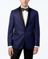 Ryan Seacrest Distinction Men's Slim Fit Microdot Dinner Jacket Only At Macy's Blue