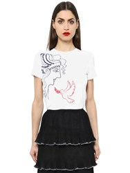 Mary Katrantzou Embroidered Cotton Jersey T Shirt