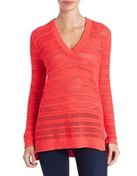 Michael Michael Kors Knit V Neck Sweater Coral Reef