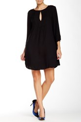 Glam Front Keyhole Dress Black