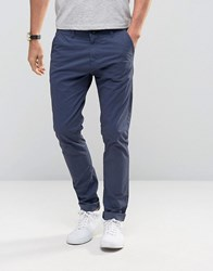 Solid Skinny Fit Chinos With Stretch Navy
