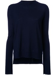 Studio Nicholson Lightweight Crew Neck Knit Top Blue