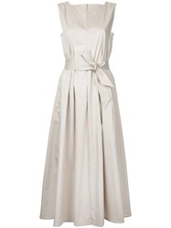 Christophe Lemaire Flared Dress Women Cotton Spandex Elastane 40 Nude Neutrals