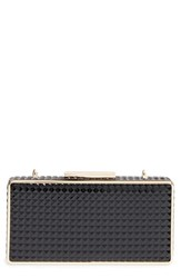 Sondra Roberts Embossed Faux Leather Clutch
