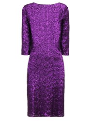 Hotsquash Long Sleeved Dress With Sequin Trim Purple