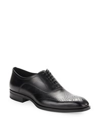 Donald J Pliner Perforated Leather Oxfords Black