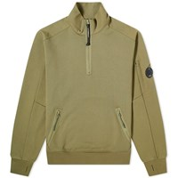 C.P. Company Arm Lens Quarter Zip Sweat Green