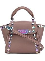 Zac Posen Studded Small Tote Pink Purple