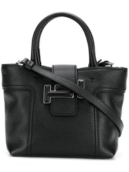 Tod's Small Double T Tote Bag Black