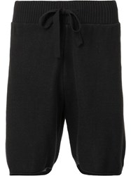 Osklen Double Face Knit Shorts Black