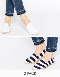 Asos Jeanie Two Pack Espadrilles Multi