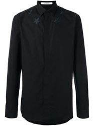 Givenchy Star Embroidered Shirt Black