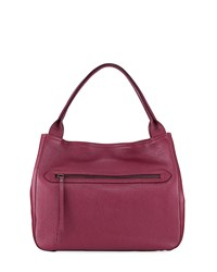 Neiman Marcus Dollaro Pebbled Leather Tote Bag Red