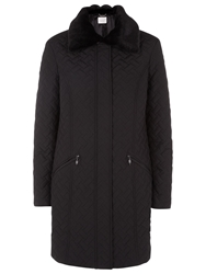 Windsmoor Basket Weave Quilted Coat Black