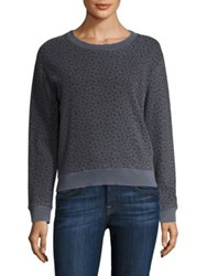 Stateside Floral French Terry Sweatshirt Charcoal