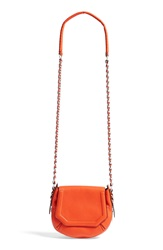Rag And Bone 'Mini Bradbury' Leather Hobo Spicy Orange