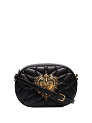 Dolce And Gabbana Devotion Quilted Camera Bag Black