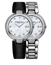 Raymond Weil Stainless Steel Diamond Accented Bracelet Watch And Interchangeable Straps Set Silver
