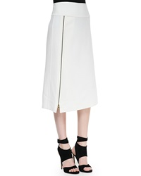 Donna Karan Mid Calf Hip Slung Midi Skirt With Zip