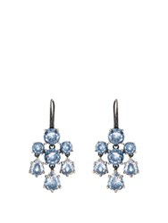 Bottega Veneta Cubic Zirconia And Silver Chandelier Earrings Blue