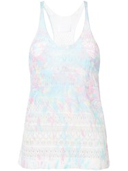 Zadig And Voltaire Paint Splash Effect Tank Top Blue