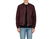 Ksubi Men's Mr. Shankley Nylon Bomber Jacket Burgundy