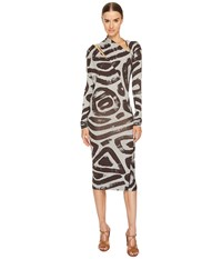 Vivienne Westwood Timans Printed Long Sleeve Dress Grey Women's Dress Gray