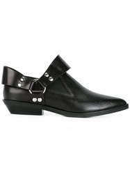 Maison Martin Margiela Mm6 Cowgirl Pointy Low Boots Black