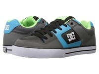 Dc Pure Grey Green Blue Men's Skate Shoes Multi