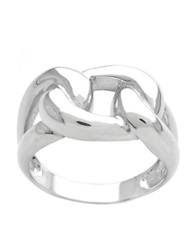 Lord And Taylor Sterling Silver Woven Ring