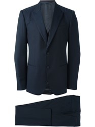 Dolce And Gabbana Three Piece Tuxedo Blue